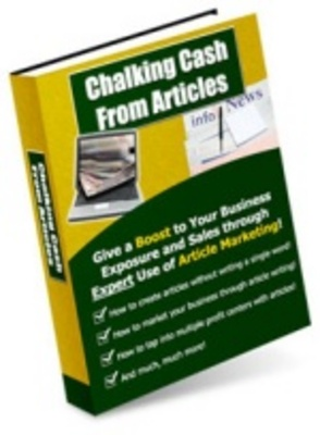 Product picture chalking cash from articles/multiply your internet business
